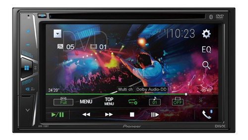 reproductor pantalla pioneer avh-110bt dvd usb bt mp3 2din