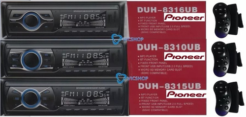 reproductor pioneer carro bluetooth mp3,usb,sd aux + control