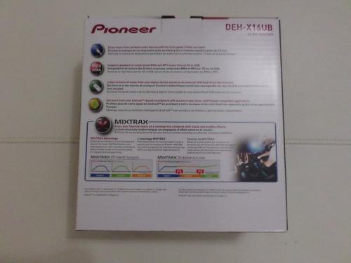 reproductor pioneer con control. deh-x16ub