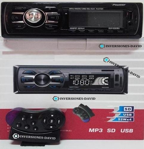 reproductor pioneer de carro mp3 usb aux radio + control