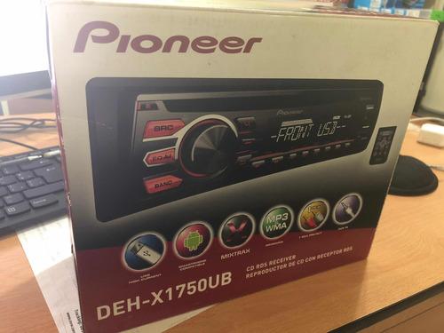 reproductor pioneer deh-x1750ub. mp3 usb cd control remoto