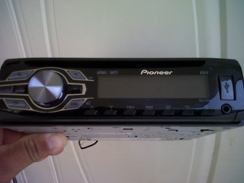 reproductor pioneer mp3 deh 3300ub usb aux frontal