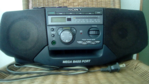 reproductor portátil sony cfd-v35 -radio am/fm, cassette,cd-