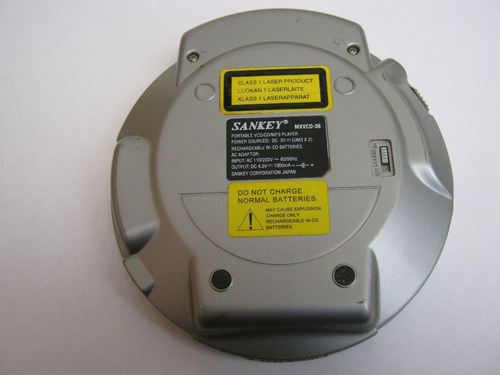 reproductor sankey vcd/cd/mp3, modelo mxvcd-36