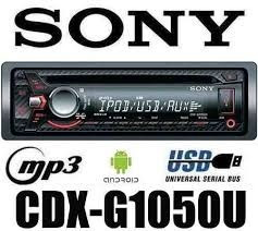 reproductor  sony cdx-g1050u usb/frontal/cd-mp3-wma/4x55w