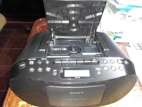 reproductor sony de cd y cassette con radio