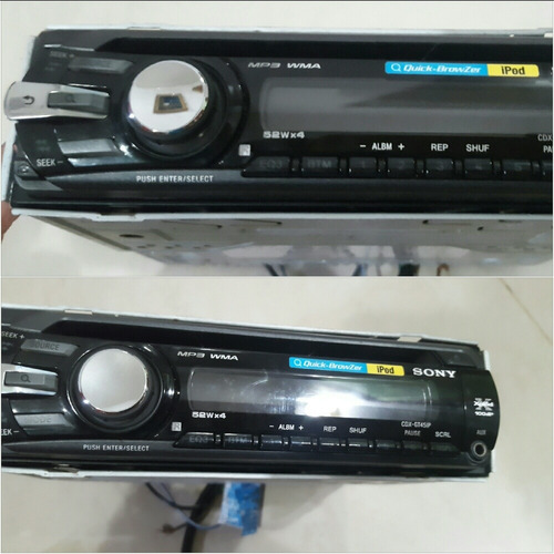 reproductor sony xplod cdx gt45ip cd mp3 aux conexion ipod
