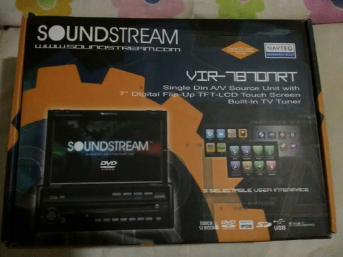 reproductor tactil 7¨soundtream, dvd,tv,cd,am,fm,50x4 touch