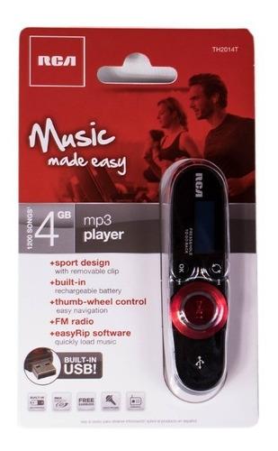 reproductor tipo sony mp3 rca 4gb th2014 fm grabador de voz
