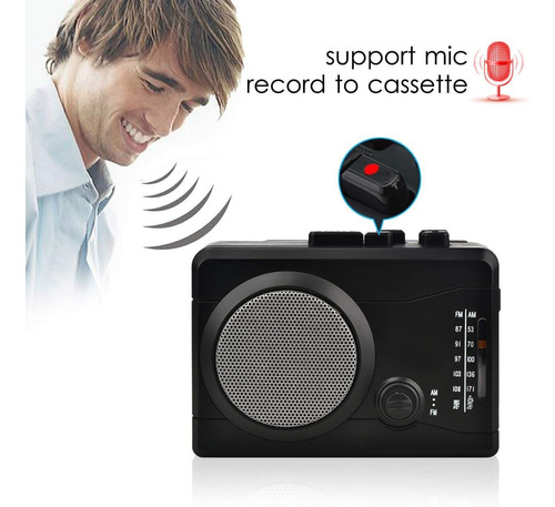reproductor y grabador de casetes - digitnow