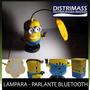 Parlante Bluetooth Y Lampara Led De Minion - Radio Y Memoria