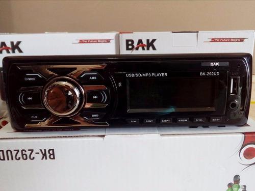 reprodutor de rádio automotivo bak bk-292/291ud usb sd mp3