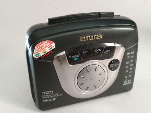 reprodutor portátil cassette k7 walkman aiwa ta273