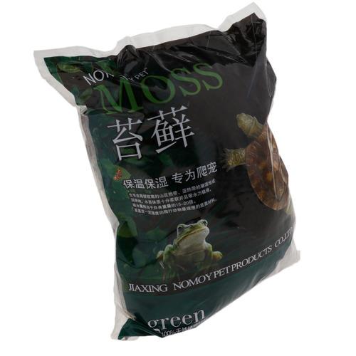 reptil terrario lecho sustrato musgo seco para tortuga drag
