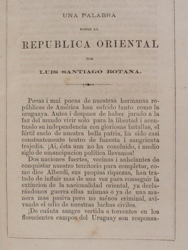 republica o. uruguay en la exposicion de chile de 1875 raro