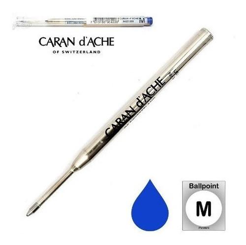 repuesto bolígrafo carandache 8422.000 medium azul original
