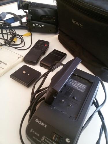 repuesto - cámara filmadora sony handycam con accesorios