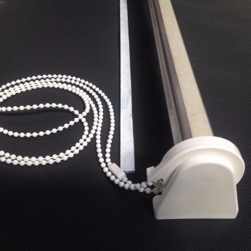 repuesto cortina roller de 1.5 mt. cadena pvc, grampas y ej