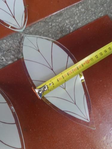 repuesto de hojas cristal talladas opalizadas para lampara