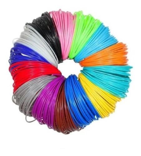 repuesto filamento 3d x 200mts varios colores lápiz 3d i3d