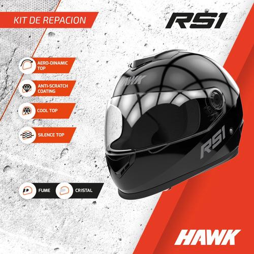repuesto hawk rs1 kit mecanismo trabas visor casco oficial
