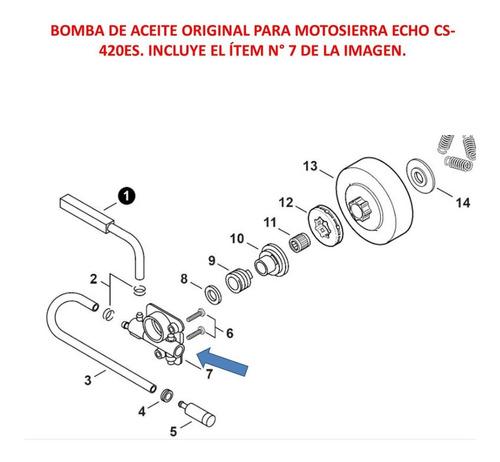 repuesto motosierra echo cs-420es bomba de aceite original