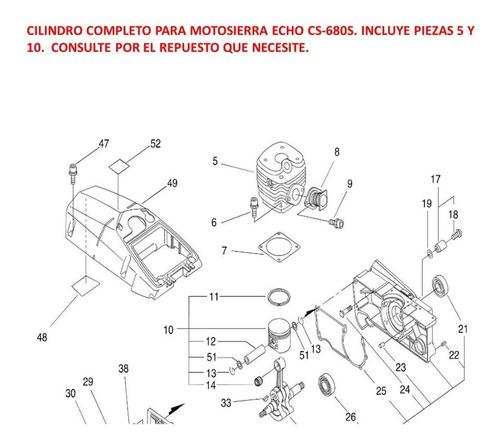 repuesto motosierra echo cs-680s cilindro completo original