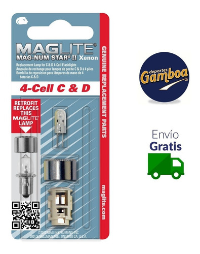 repuesto para lampara maglite 4-cell c&dlmxa401 envio gratis