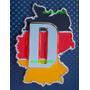 Emblema Insignia Bandera Mapa De Alemania De Metal