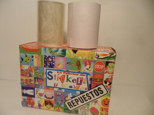 repuestos para fabrica de stickers fiorella incluye 2 rollos