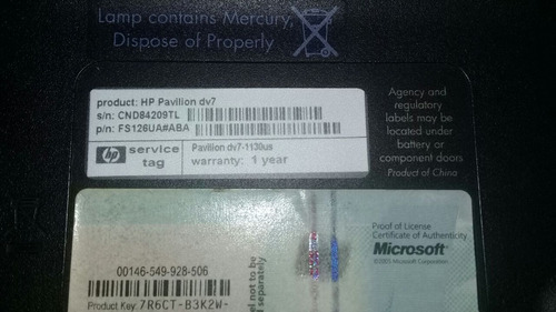 repuestos para laptop hp pavilion dv7-1130us