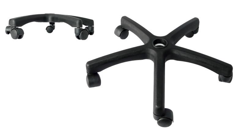 Repuestos para sillas de oficina patas en nylon color for Repuestos sillas de oficina