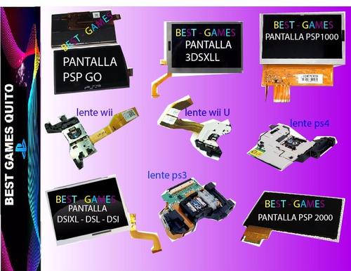 repuestos ps3-ps4-wii-xbox,lentes,pantallas,análogos,carcasa