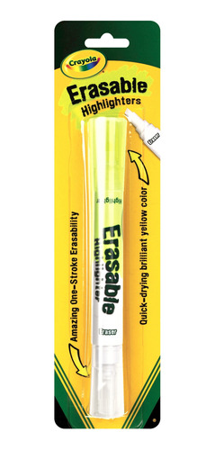 resaltador crayola borrable erasable x1
