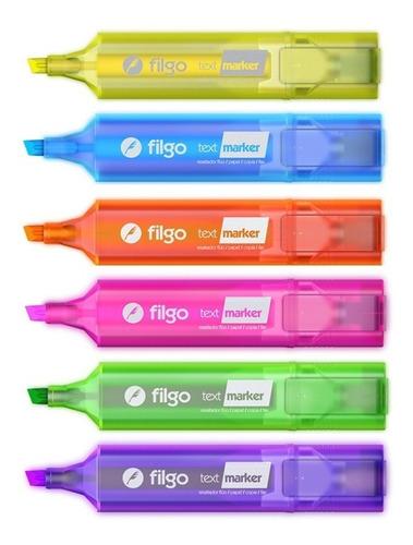 resaltador filgo text marker fluo caja x 12 unidades