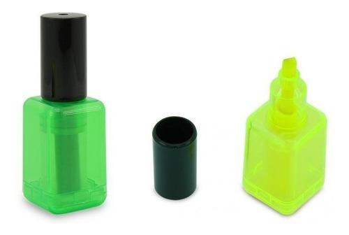 resaltador forma esmalte uñas original colores lote x 5