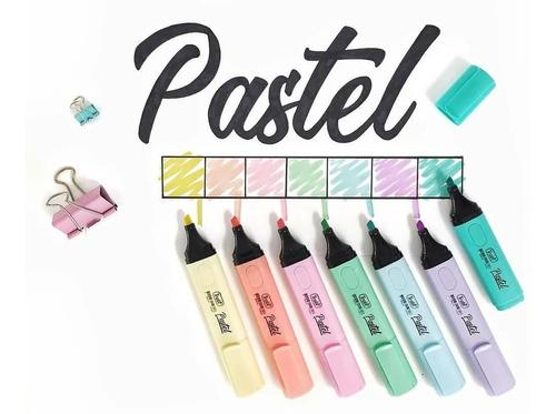 resaltadores trabi colores pastel x10 unidades surtidos
