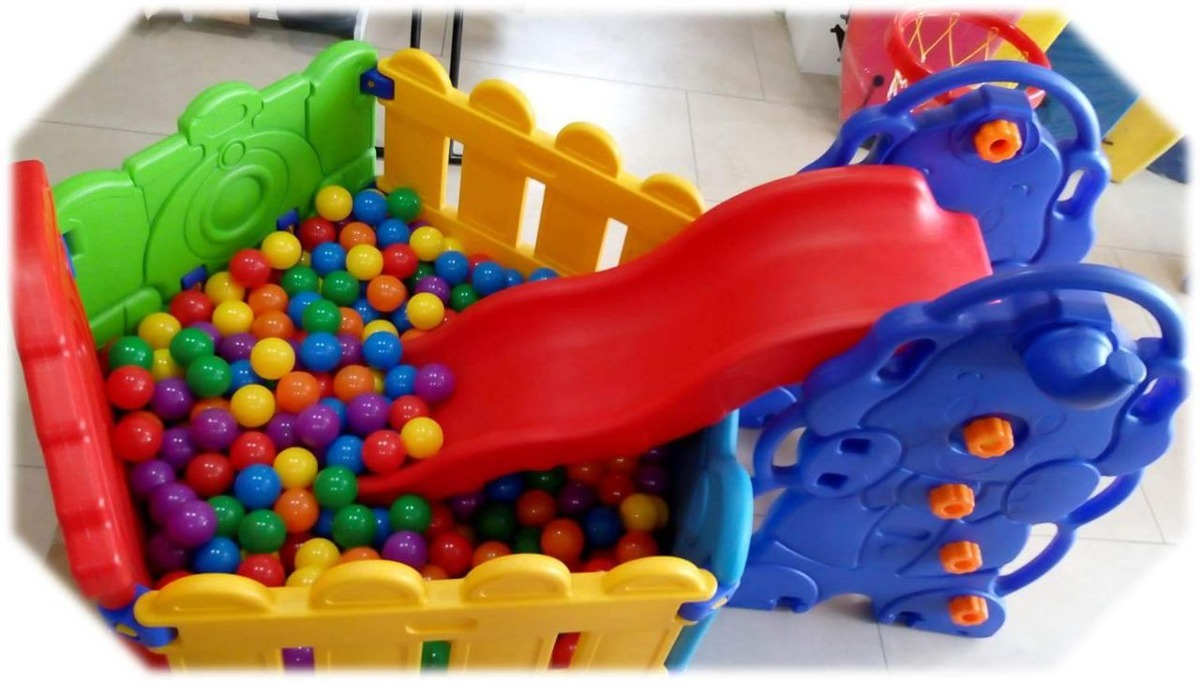 Niños Juguetes Juegos corral pelotas Resbaladera Para RjAL54