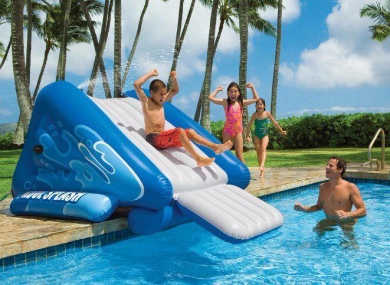 resbaladera inflable para piscina tobogan ni os marca