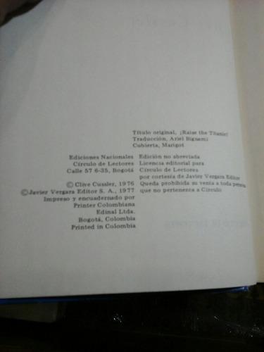 rescate en el titanic, clive cussler, novela.