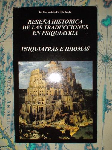 reseña historica de las traducciones en psiquiatria