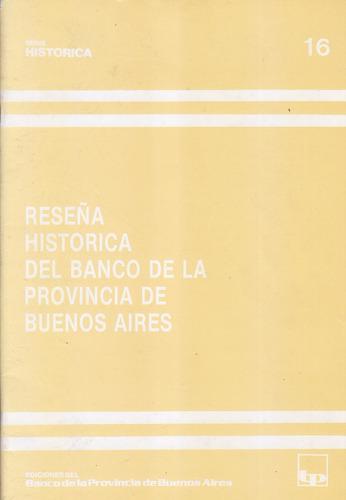 reseña historica del  banco de la provincia de buenos aires