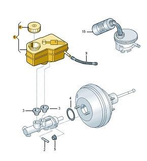reservatório fluído freio