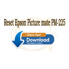 Reset  Picturemate Pm225 Almofadas No Final Da Vida Útil!