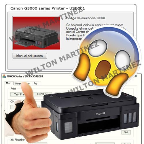 reset 5b00 impresora canon g3100 - solución inmediata