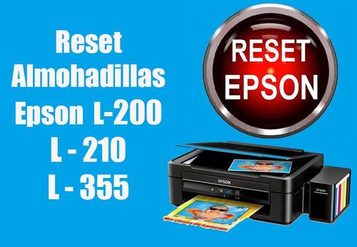 reset almohadillas epson l-200-210-355