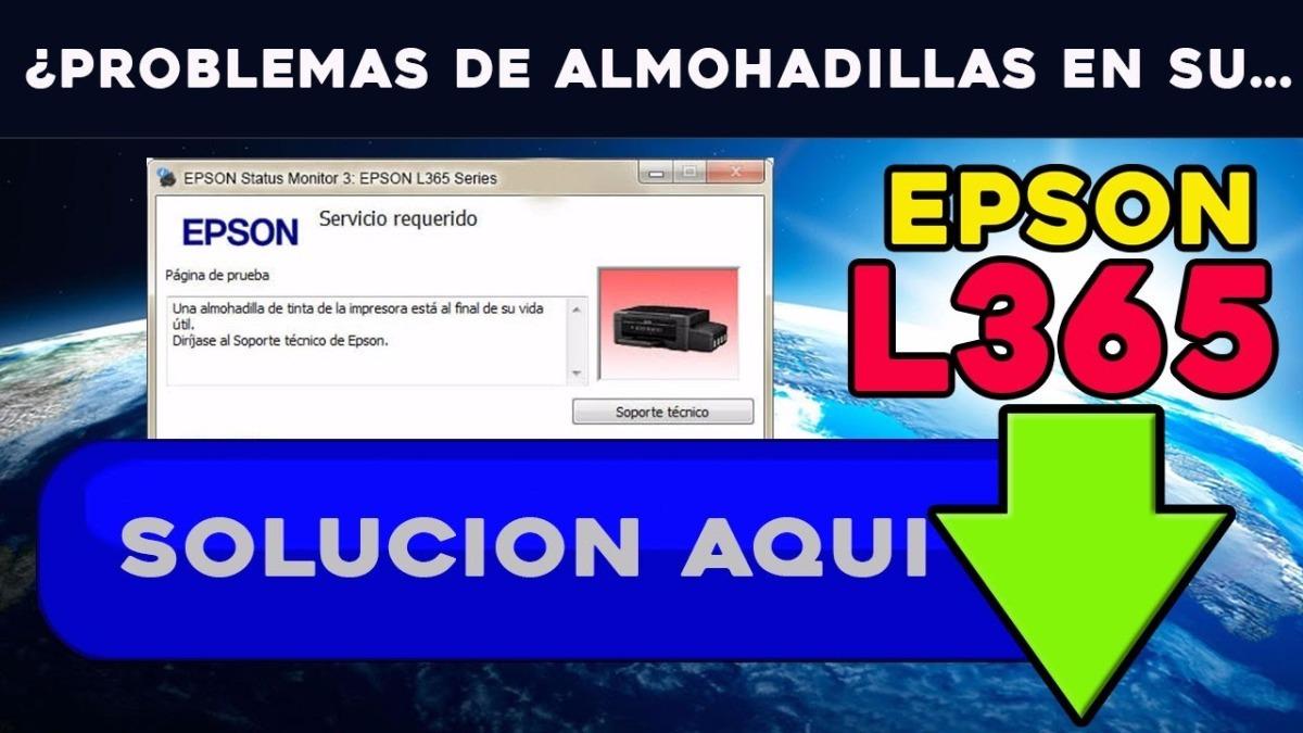 Reset Almohadillas Epson L360 L365 L355 L220 L365 L300 L310