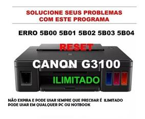 Reset Canon G2000 G2100 G3100 (preço Por Tempo Limitado)novo