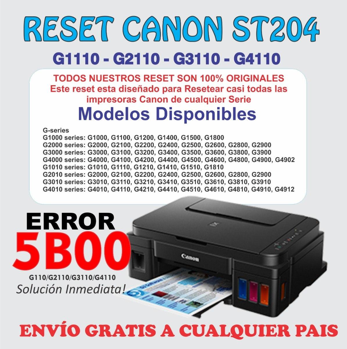 Reset Canon St5204 Para G2110 G3110 G4110 Service Tool 1pc