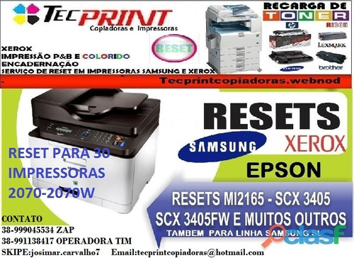 reset  da impressora  2070-2070w-2070fw não use mais chip